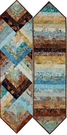 free reversible strippy table runner pattern - Google Search: