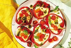 Low Carb Recipes, Healthy Recipes, Healthy Food, Bruschetta, Vegetable Pizza, Vitamins, Vegetables, Ricotta, Pesto