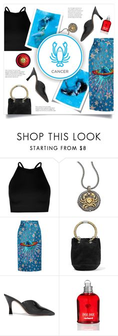 """""""July Horoscope"""" by lenochca ❤ liked on Polyvore featuring Boohoo, Konstantino, Gucci, Edie Parker, Attico, Cacharel, cancer, Horoscope and summerprints"""