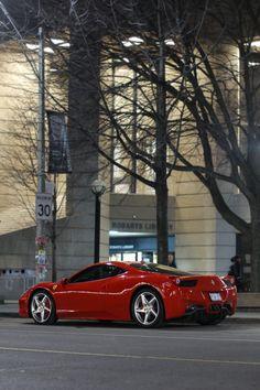 "iriddell: ""Ferrari 458 Italia Robarts Library, University of Toronto """