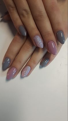 Gray sliver and pink