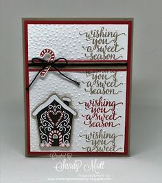 Candy Cane Lane Christmas - Stampin' Up! - created by Sandy Mott