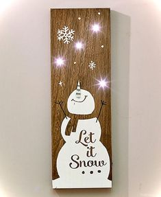 Wooden LED Holiday Signs crafts christmas crafts diy crafts hobbies crafts ideas crafts to sell crafts wooden signs Christmas Wall Art, Pallet Christmas, Rustic Christmas, Christmas Projects, Christmas Paintings, Christmas Ideas, Christmas Wooden Signs, Merry Christmas, Christmas Blocks