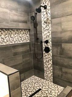 Rustic Bathroom Designs, Bathroom Design Luxury, Bathroom Layout, Modern Bathroom Design, Bathroom Tile Designs, Bathroom Remodel Pictures, Restroom Remodel, Shower Remodel, Master Bathroom Shower