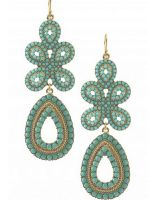 stella and dot turquoise earrings