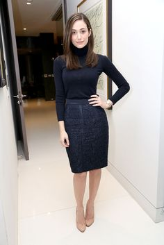 Emmy Rossum: We know we're not the only ones who fell in love with Emmy's Carolina Herrera set. Between the hair, the navy color, and the neutral heels, the actress looked very polished and classic.