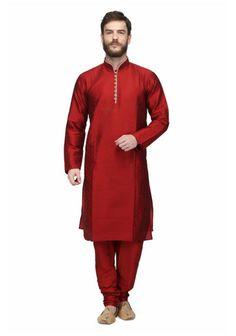 http://fabolic.com/product/raw-silk-mens-kurta-pajama-by-pret-a-porter/