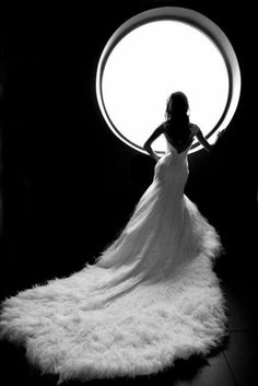 The most beautiful feather wedding dress.