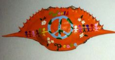World Peace hand painted crab shell painted by me! Crab Shells, Painted Shells, Sand Dollars, World Peace, Hand Painted, Decorations, Crafty, Awesome, Painting