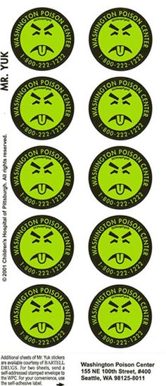 Remember Mr Yuk stickers?  I wonder if these are still used??