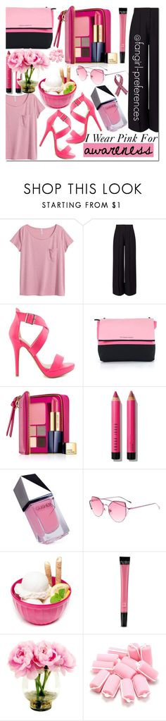 """#IWearPinkFor AWARENESS"" by fangirl-preferences ❤ liked on Polyvore featuring H&M, Miss Selfridge, Michael Antonio, Victoria's Secret, Estée Lauder, Bobbi Brown Cosmetics, GUiSHEM, ZAK and Bling Jewelry"
