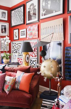 Donald Robertson's artwork at friend John Dempsey's home which he just hung over the artwork already on the wall (he was selling it for charity).
