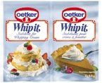Dr. Oetker Whip It, Stabilizer for Whipping Cream, 2- 0.35oz Packets Dr. Oetker. Use this to making whip cream the consistency of cool whip so you can use whip cream as a substitute. gm