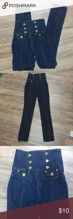 """Younique size 1 high waisted skinny slim jeans Very unique and different! 31"""" inseam. For very slender woman. Younique Jeans Skinny"""