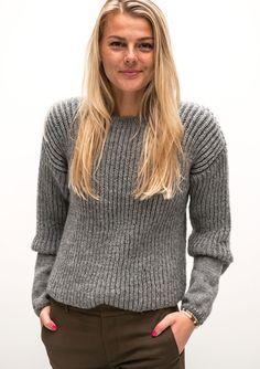Damesweater i patent