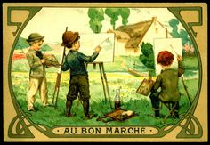 French Tradecard - Child Painters #1 | by cigcardpix
