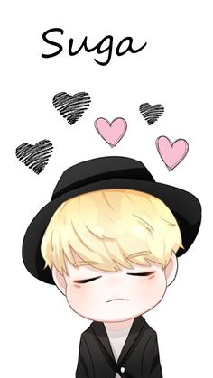He's very kiyowo😍 Bts Suga, Min Yoongi Bts, Kpop Drawings, Cute Drawings, Animes Wallpapers, Cute Wallpapers, Suga Chibi, Dibujos Cute, Cartoon Background