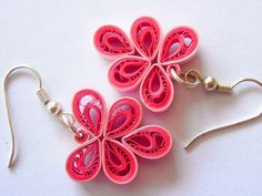 OOAK Leafy Paper Quilled Earring. $18.00, via Etsy.