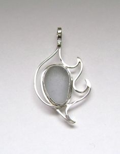 Sea Glass Jewelry  Sterling Rare Gray Sea Glass by SignetureLine, $75.00