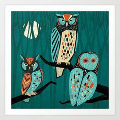 Trio Art Print by Eine Kleine Design Studio