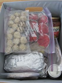 Freezer Meal Gift Basket, GREAT idea when someone is having surgery and has a long recovery and will be getting lots of meals at the same time.