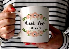 These are adorable!!!   Pregnancy Announcement Aunt Gift for Aunt Pregnancy Reveal Aunt Mug Personalized Pregnancy Announcement Ideas Coffee Mug Aunt Coffee Mug by fieldtrip on Etsy https://www.etsy.com/listing/279320282/pregnancy-announcement-aunt-gift-for