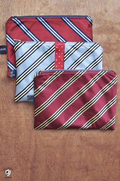 How to upcycle neck ties into other projects. What to do with old ties. A free sewing pattern for necktie zip pouches. Valentine Gifts For Husband, Diy Gifts For Boyfriend, Perfect Boyfriend, Sewing Patterns Free, Sewing Tutorials, Free Sewing, Sewing Men, Pattern Sewing, Sewing Clothes