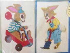 2 Robert Rabbit Crewel Embroidery Kits Vintage Wonder by CatBazaar