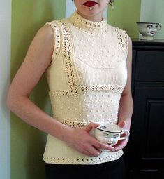 High Neck Lace Top from Vogue Knitting on Ravelry.