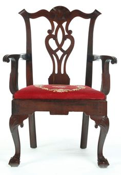 Beginner's Guide to Chippendale Style Furniture: Chippendale Style Chair with Yoke Back, Pierced Splat, Cabriole Legs, and Ball and Claw Feet, c. 1765-1175