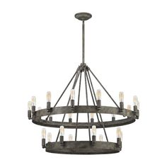 This series exudes a refined, Mediterranean design made with a solid iron ring that anchors the lights around its parameter. The exclusive malted rust finish embellishes the metalwork, delivering subtle sophistication. For a more restoration style, pair with filament bulbs for a warm ambiance.