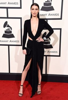 Bella Hadid 2016 Grammy Awards...Wow, love the details. Select 1-2 detail that fits your style & design that 'dream wedding dress'. Be open for suggestions in achieving that special look.