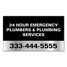 24 HOUR EMERGENCY PLUMBERS and PLUMBING SERVICES Double-Sided STANDARD BUSINESS CARDS (Pack OF 100). This is a fully customizable business card and available on several paper types for your needs. You can upload your own image or use the image as is. Just click this template to get started!