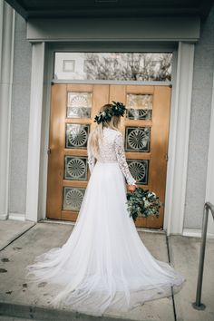 Blogger Chandler Roberson - Days of Chandler - Modest LDS Wedding Dress