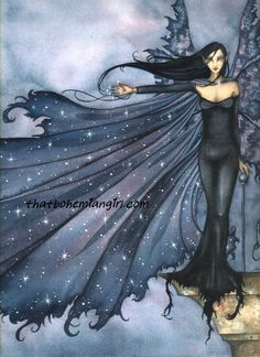 Amy Brown Cloak of Stars Fairy Print -- Limited Edition