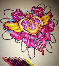 Sailor Moon Tattoos, Sailor Moon Fan Art, Tattoo Moon, Lotus Tattoo, Trendy Tattoos, Cute Tattoos, Body Art Tattoos, Tatoos, Cartoon Tattoos