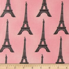 Paris Panache Slicker Eiffel Tower Blush from @fabricdotcom  From Robert Kaufman, this laminated fabric meets the key provisions of the CPSIA (Comprehensive Consumer Product Safety Improvement Act of 2008). Does not contain any lead or thyolate. Soft, protective film is laminated to the face of the fabric, its softness makes this cloth extremely pliable for fashion, and the durability combined with easy-care convenience (cleans up easily with a damp cloth) can be brought to your table with ...