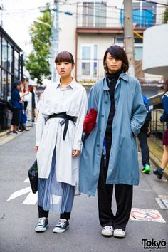 Harajuku Duo in Long Coats