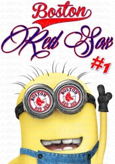 Boston Red Sox with Minion - AL East - Iron On Heat Transfer 7 x 10 MLB, Crafts :: Home Arts & Crafts :: Other Home Arts & Crafts :: Bullszi...