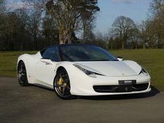 Used 2012 ( reg) White Ferrari 458 Italia 2dr Auto for sale on RAC Cars