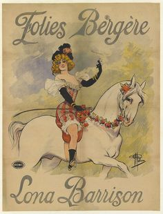 Lona Barrison | Folies Bergere poster