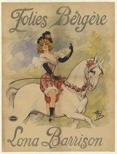 Title: Folies-Bergères. Lona Barrison  Artist: Albert Guillaume Date: 1897