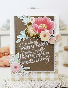Paper Hugs Card by Melissa Phillips for Papertrey Ink (April 2017)
