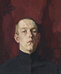 Sergei Malyutin (1859-1937) Portrait Of The Artist's Son, Vladimir 1914 (58 by 49,5 cm)