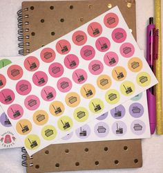 Cleaning and laundry planner stickers calendar by InnaChinaCrafts