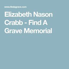 Elizabeth Nason Crabb - Find A Grave Memorial