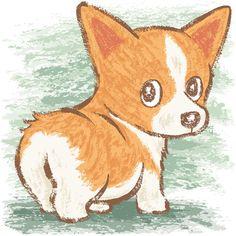 Look back on behance by toru sanogawa cute dog drawing, corgi drawing, cute animal Corgi Drawing, Cute Dog Drawing, Cute Animal Drawings, Cute Drawings, Dog Drawings, Cartoon Cartoon, Cartoon Drawings, Corgi Cartoon, Cartoon Illustrations