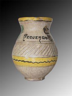 Title: Majolica Pitcher # 8193 Circa: 1950 / 60 Description: Good antique condition from Montiel Factory, La Antigua Guatemala. Dimensions: 8 1/2″ height * 4 1/2″ mouth Price: $400.00 including shipping