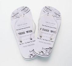 """Brides """"I Thee Wed"""" Flip Flops"""