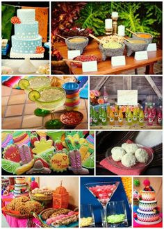 fiesta food and drink for a cinco de mayo wedding